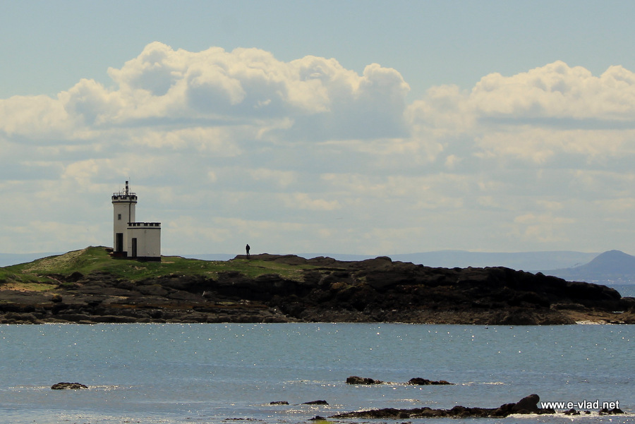Elie, Scotland - Lighthouse across the bay from the harbor.