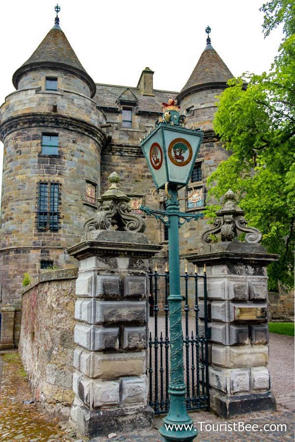 The towers at the entrance of Falkland Palace