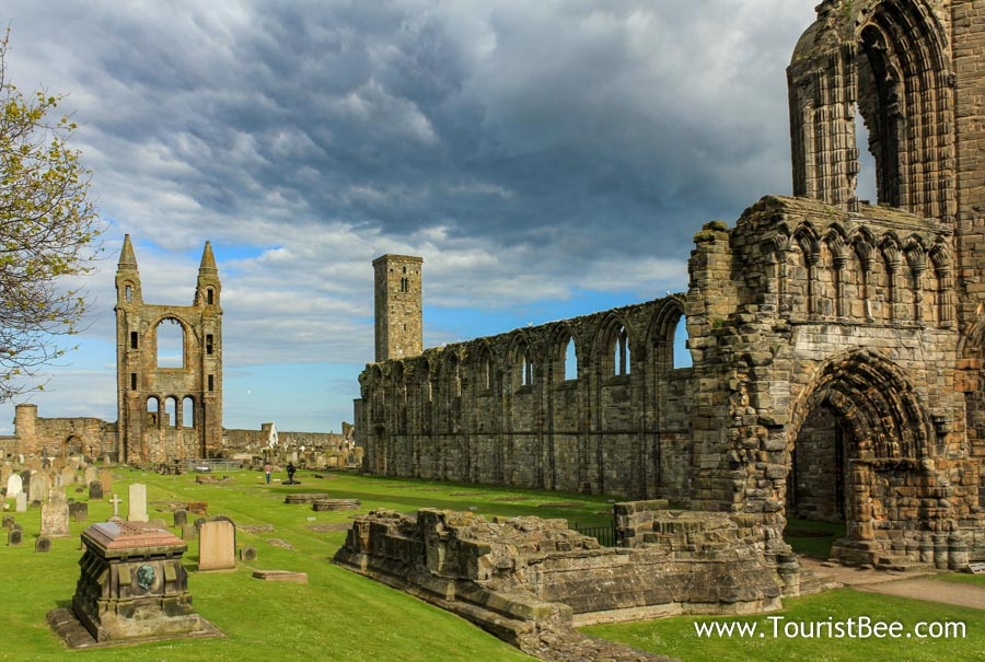 St Andrews Cathedral is usually the first stop on any walking tour of St Andrews, Scotland.