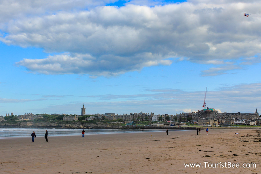 St Andrews, Scotland - The famous West Sands beach where parts of the movie Chariots of Fire was filmed.