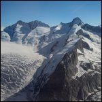 Swiss Alps seen from the air