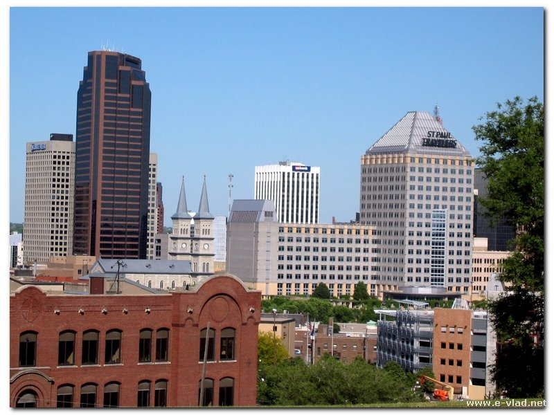 Saint Paul, Minnesota - Panorama of the high rises in downtown Saint Paul.