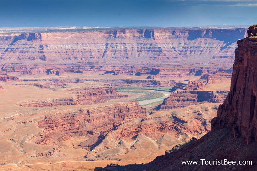 Dead Horse Point, Utah - The Colorado River seen meandering through canyons
