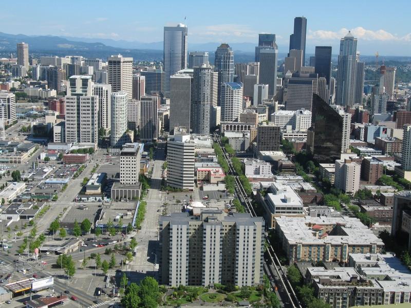 Seattle, Washington - downtown view.