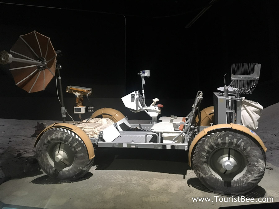 Seattle, Washington - A lunar rover model at the Museum of Flight.