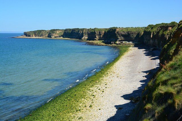 Point Du Hoc, France - view of the Normandy coast