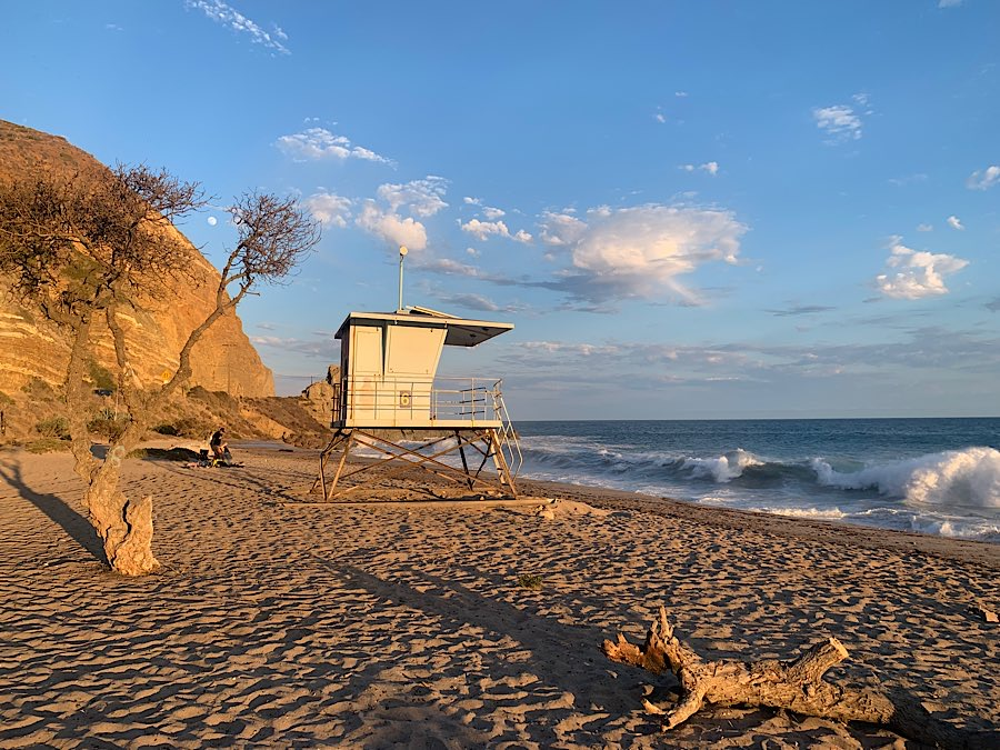 Sycamore Cove is a popular spot for a beach picnic.